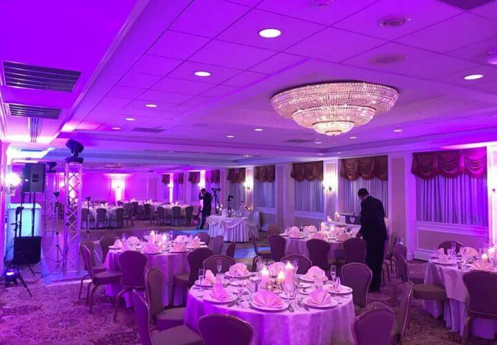 Uplighting Effects New Jersey Wedding DJ